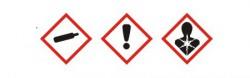 Arbeitssicherheit - GHS - Gesundheitsgefahr - Ausrufezeichen - Gasflasche